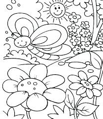 Coloring Pagesspring Preschool Coloring Pages Spring For Vintage