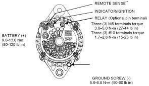 alternators 240 24103 delco 24si 160a 12v irif pad mount product diagram