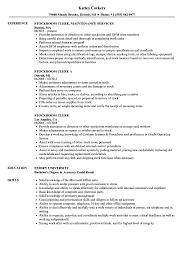 Stockroom Clerk Resume Samples Stockroom Clerk Resume Samples Velvet Jobs 2