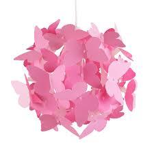 Lighting For Girls Bedroom Modern Pink Butterflies Ceiling Pendant Light Lamp Shade Girls