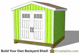 10x10 backyard shed plans