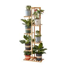 homchwell plant stand rack bamboo 6