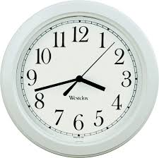 westclox 46994a 8 1 2 inch simplicity round wall clock white
