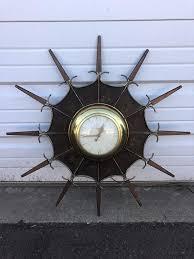 vintage mid century modern wall clock