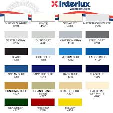 Interlux Paint Chart Here Is What I Find For The Interlux Brightside Polyurethane