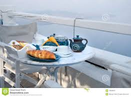 Table Setting For Breakfast Breakfast Table Setting With Mountain View Stock Photography