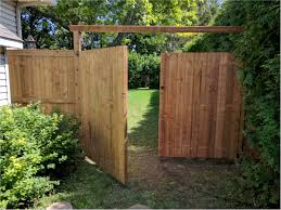 wood fence double gate. Richmond, Ontario - PT Wood Fence With Double Gate