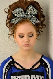cheer hair and makeup teased hair and smokey eye