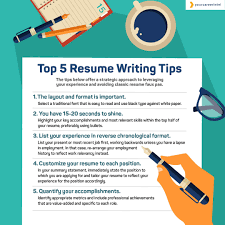Tips For Making A Resume Top 5 Resume Writing Tips Your Career Intel