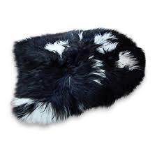 black sheepskin rug. Kristjan Icelandic Sheepskin Rug Black And White Background