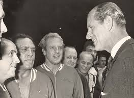 Image result for photo of Prince Philip and wrestlers