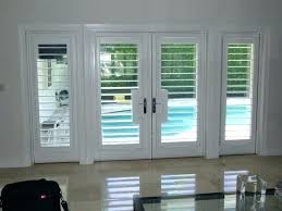 sliding glass door shutter plantation