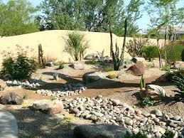 desert rock garden ideas designs river landscape contemporary