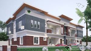 Modern Semi Detached House Design Semi Detached House Plan 4 Units 2 Bedroom Flat All Rooms