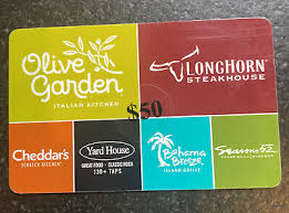 16 results for gift card for longhorn steakhouse amazon's choice for gift card for longhorn steakhouse. 50 Darden Gift Card Olive Garden Longhorn Steakhouse Cheddar S Yard House 47 34 Picclick