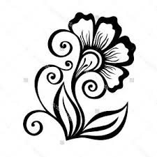 simple designs of flowers for drawing beautiful decorative flower leaves vector patterned stock vector