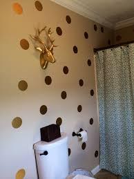 minimalist bathroom design with beautiful gold polka dot wall decals high quality vinyl wall decal