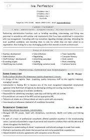 recruitment consultant cv template hr consultant job description