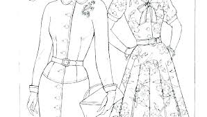 Fashion Designer Coloring Pages Free Barbie Models Printable Small