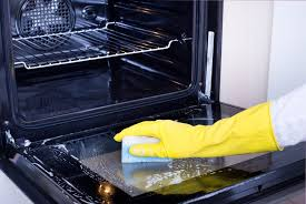 how to clean oven door glass window