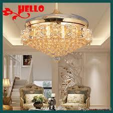 stylish lighting living. 2018 2017 Stealth Gold Ceiling Fan Light Stylish Modern Restaurant Led  Folding Crystal Fans With Lights Living Room Bedroom From Bunny0612, Stylish Lighting Living