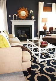 behr navy blue living room transitional with glass coffee table area rugs