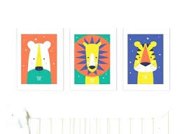 bright wall art animal bright modern baby nursery wall art trio by paper joy bright wall on nursery wall art nz with bright wall art fashionnorm top