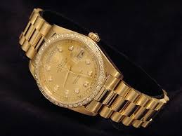 mens rolex solid 18k yellow gold day date president w diamond dial you re almost done mens rolex