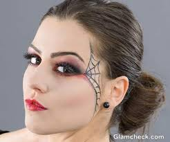 witch eye makeup spider web