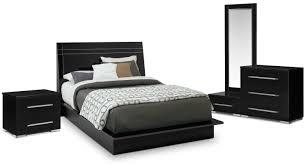 Dimora 6-Piece King Panel Bedroom Set - Black | Value City Furniture ...