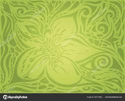 Floral Pasen Decoratieve Groene Sierlijke Patroon Vintage Behang