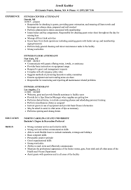 Fitness Attendant Resume Samples Velvet Jobs