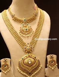 Gold Necklace And Haram Set Designs Gold Necklace And Haram Set By Manepally Photo Gold