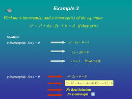 example 2 find the x intercept s and y intercept s