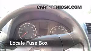 interior fuse box location volkswagen rabbit  interior fuse box location 2006 2009 volkswagen rabbit 2008 volkswagen rabbit s 2 5l 5 cyl 2 door