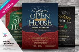 christmas open house flyer holiday open house flyer templates by kinzi21 graphicriver