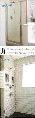 modern shower remodel. Beautiful Shower DIY Beginner Simple Custom Schluter Tile Shower Waterproof Bathroom Remodel  How To Inside Modern Shower Remodel O