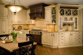 pottery barn style kitchen traditional with hanging wine glass rack