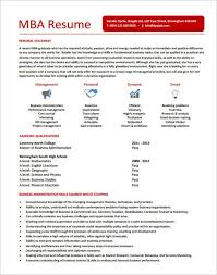Professional MBA Resume Template