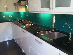 Splashback For White Kitchens Turquoise Splashback With Black And White Kitchen Google Search