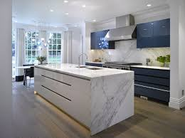 Kitchen Full Design Waxley A High Gloss Blue White Kitchen From Roundhouse