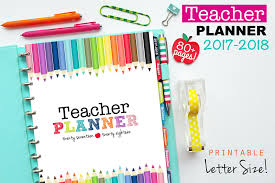 Clean Life And Home The Printable Teacher Planner In 3 Designs