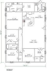 metal house floor plans. Exellent House Barndominium Floor Plans 40x60 5 Bedroom 2 Bathroom In Metal House Floor Plans L