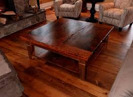 Rustic Square Coffee Table Photo Gallery