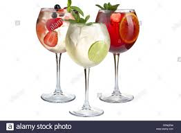 Light Cocktails Alcoholic And Non Alcoholic Cocktails With Mint Fruits And