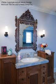 Moroccan Inspired Bathroom Vanity Eclectic Bathroom Moroccan Inspired Bathroom Stylish Bathroom