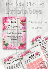Free Baby Shower Invitations Printable Free Baby Shower Printables Double The Batch L Babyshowerideas