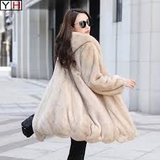 2019 winter women real mink fur coat winter thick warm natural mink fur outwear coat high quality imported mink fur coat c18112001 from lizhang03
