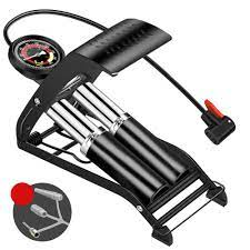 Pedalı şişirme yüksek basınçlı ayak pompası taşınabilir ayak hava topu  bisiklet Scooter motosiklet araba pompalama araçları şişme hava pompası Bicycle  Pumps