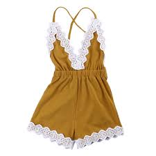 <b>Infantil Toddler Newborn Baby</b> Girls Strappy Lace One pieces Cute ...